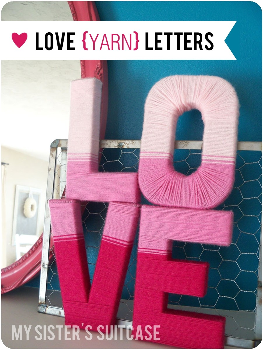 Love {Yarn} Letters - My Sister\'s Suitcase - Packed with Creativity