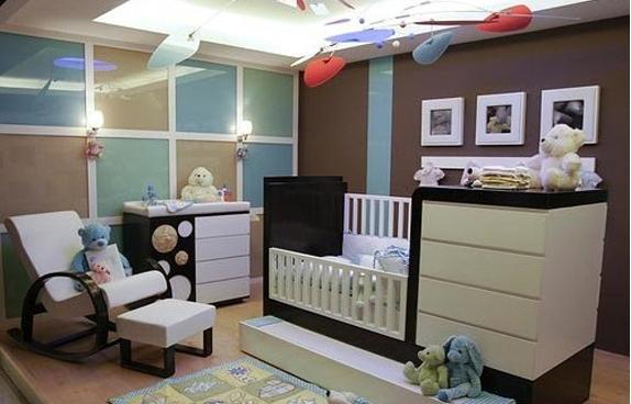 Habitaci n de beb color chocolate ideas para decorar - Color paredes habitacion bebe ...