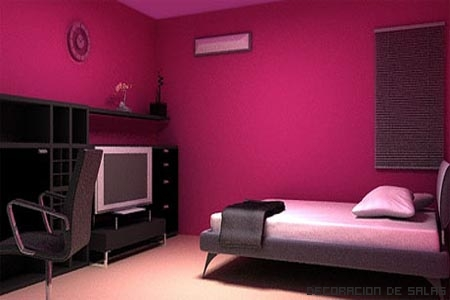 decoraci n y afinidades paredes color fucsia