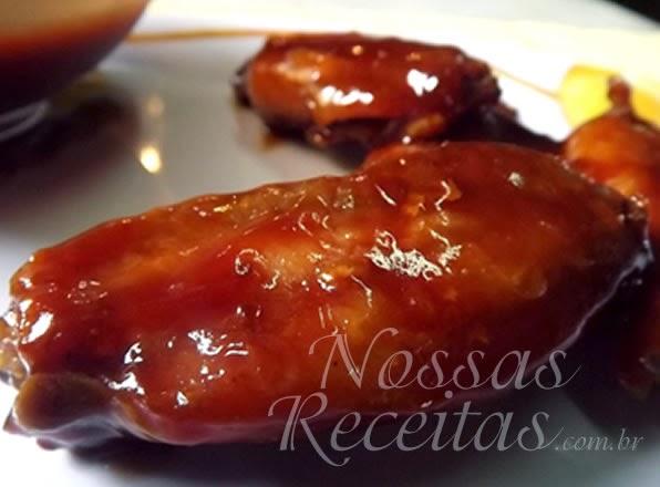 Receita de asinhas de frango assadas com molho agridoce