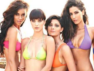 Kingfisher Calendar Pics, Swimsuit Trends