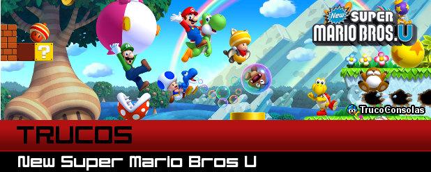 Trucos New Super Mario Bros U - Wii U