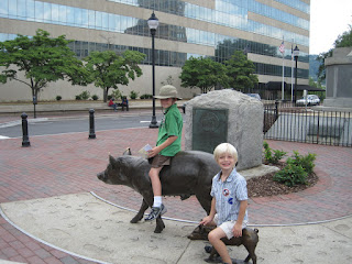 child-friendly public art in Asheville