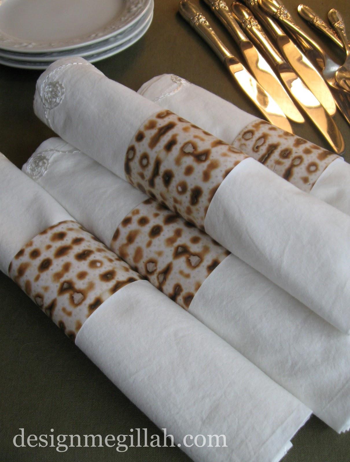 design megillah matzah napkin rings. Black Bedroom Furniture Sets. Home Design Ideas
