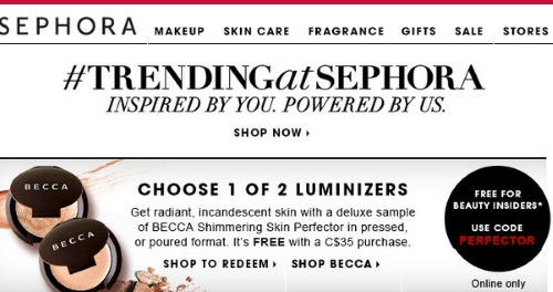 Canadian Daily Deals: Sephora Free Becca Shimmering Skin Perfector ...