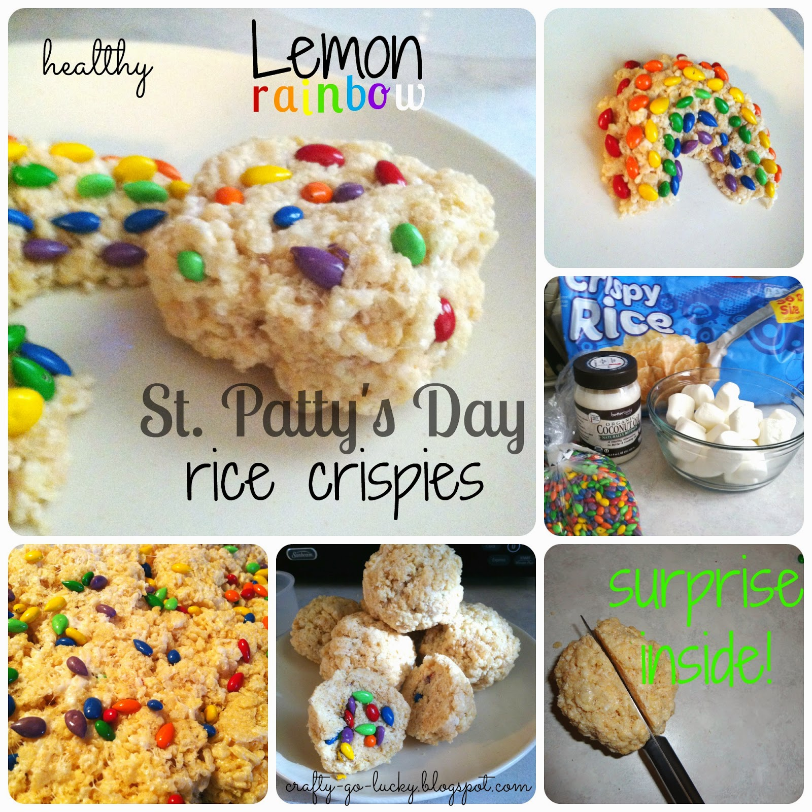 Healthy Lemon Rainbow Rice Crispies