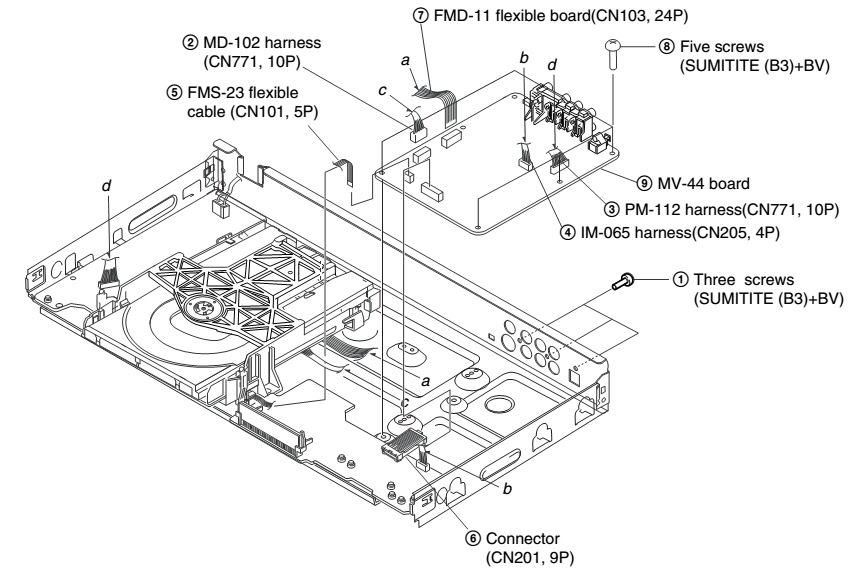 how to disassemble loading mechanism - optical laser  pickup  ns501p  ns507p
