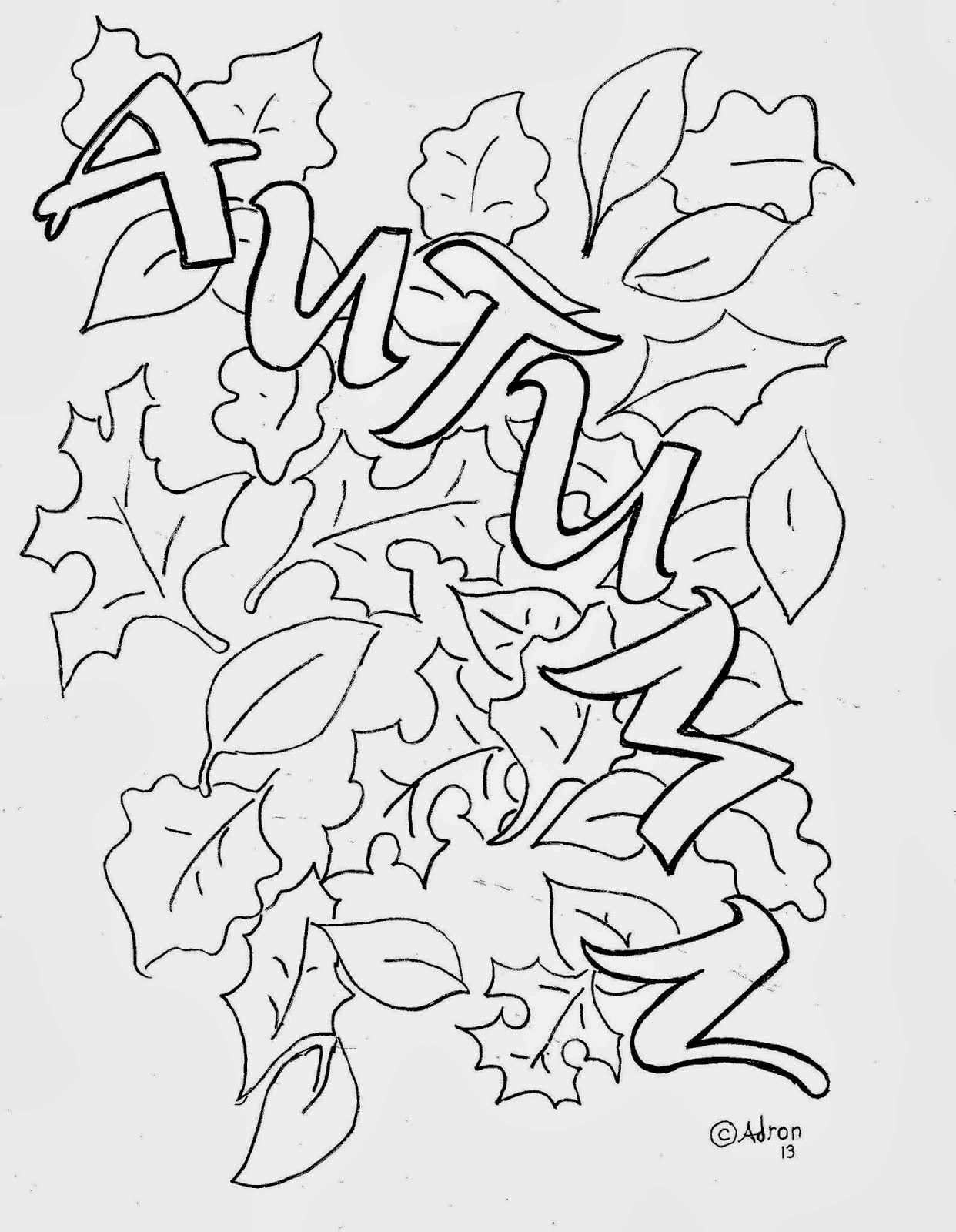 Autumn Leaves Coloring Pictures Images
