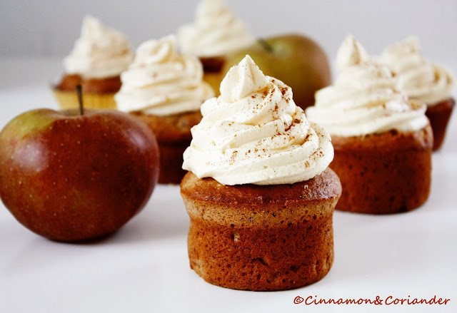 Apfelstrudel Cupcakes mit Buttercreme