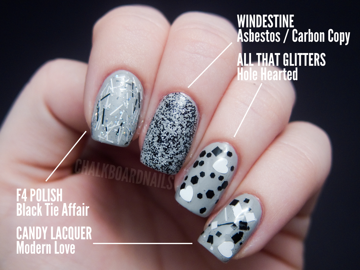 The Ultimate Black And White Glitter Comparison Post Chalkboard