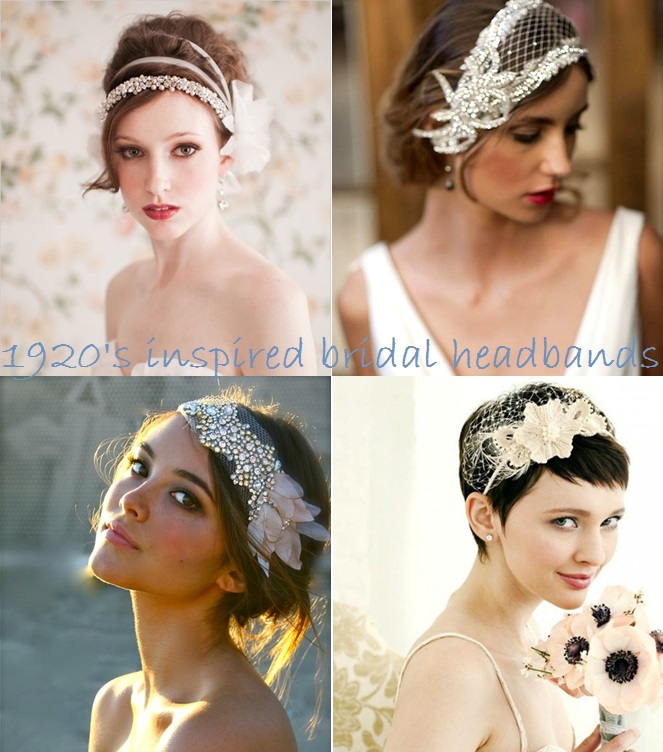 1920's inspired wedding hairbands