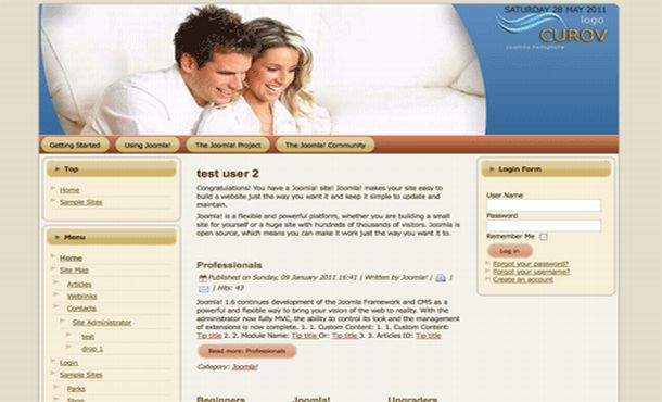 Free Family Love Flash Joomla Theme Template