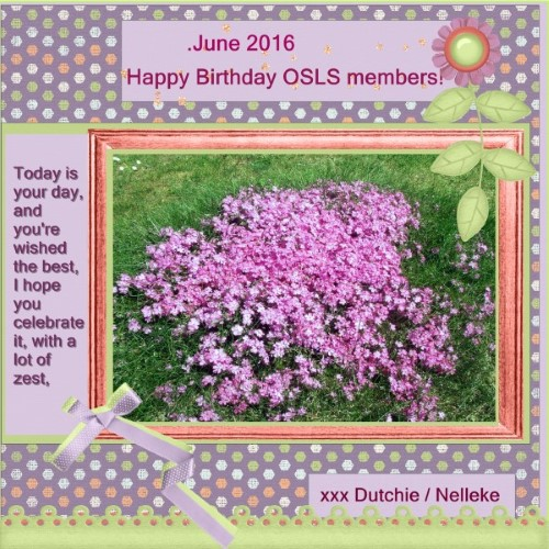 June 2016 Happy birthday OSLS members