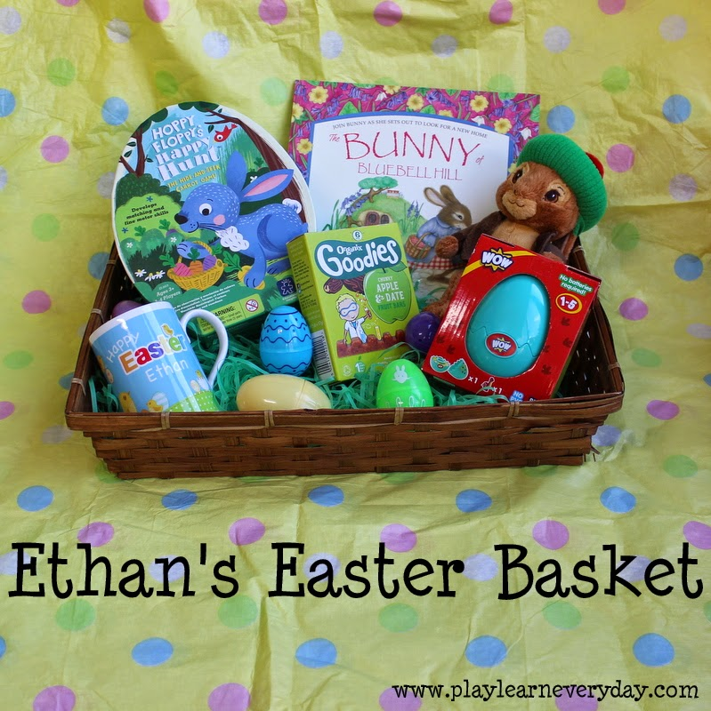 Ethans easter basket play and learn every day there are a few different categories that i like to cover in easter basket gifts so in ethans basket he has someone to cuddle negle Gallery