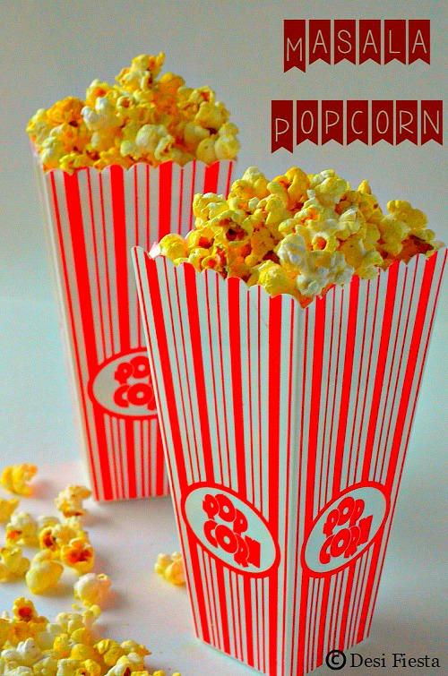 home made masala popcorn