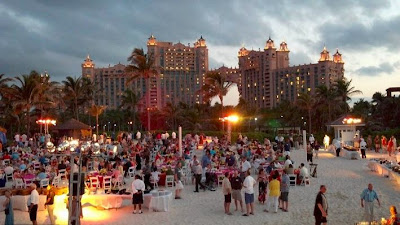 atlantis resort beach party