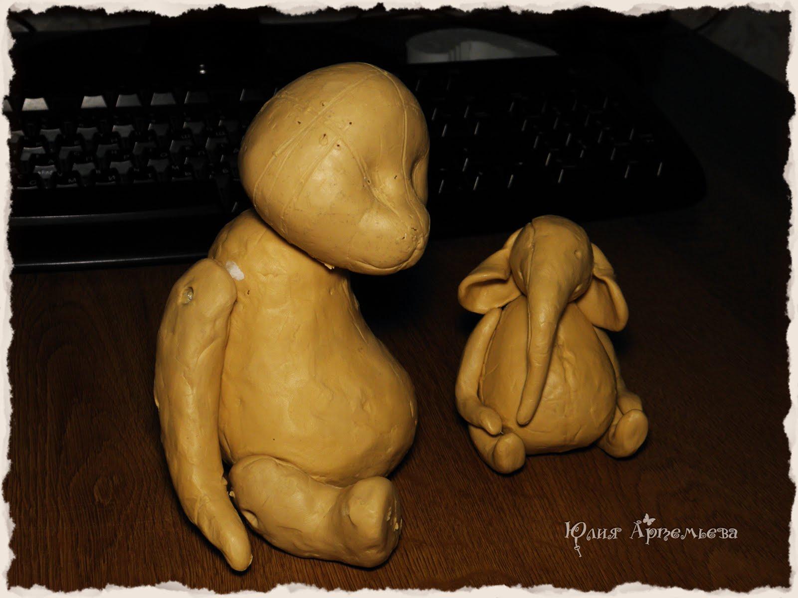 Создание выкройки мишки по пластилиновому макету фото 736