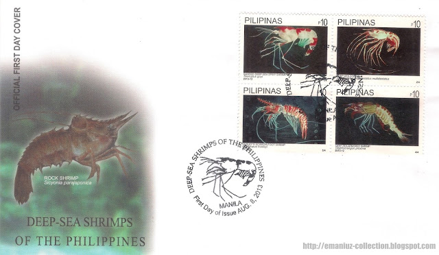 Deep-Sea Shrimps of the Philippines First Day Cover