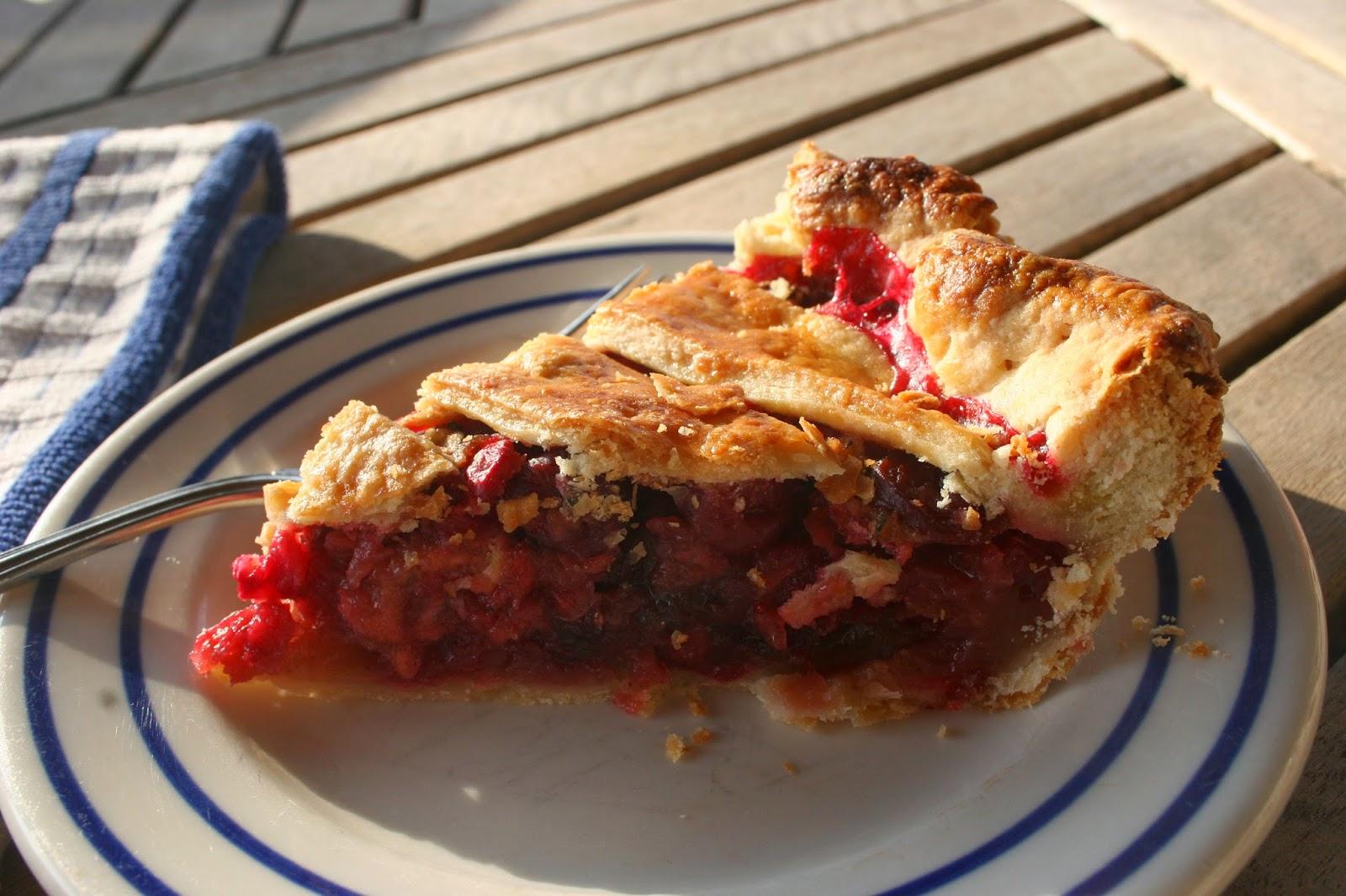 Cranberry Sage Pie slice