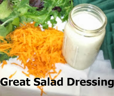 great salad dressing with a salad
