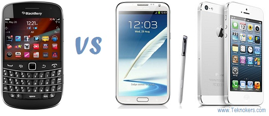 blackberry vs android vs apple, iphone sama android bagusan mana?, perbandingan bb dnegan ipad