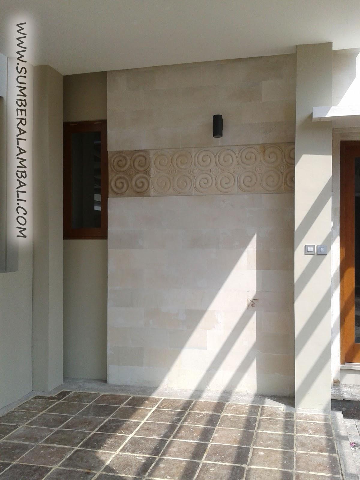 aplikasi batu alam pada dinding rumah
