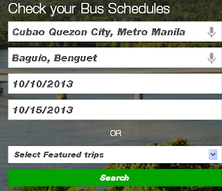 Search for Provincial Bus Schedule Online and Using your Smartphone