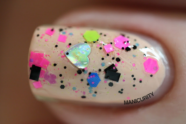 Manicurity | Trelly's M.I.S.C Polish Summer 2013 Collection - Lisa Frank is da Bomb over CND Perfectly Bare