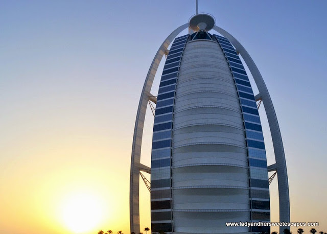 the world-famous Burj Al Arab