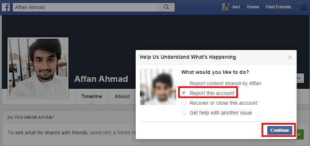 Facebook Account Report