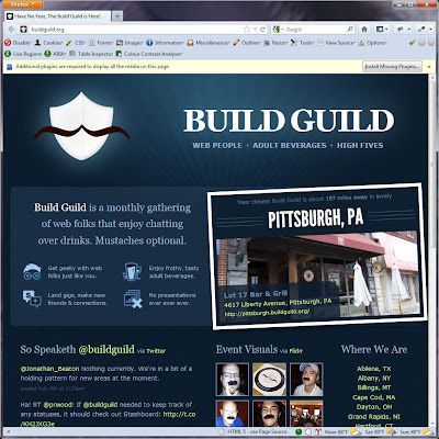 Screen shot of http://buildguild.org/.