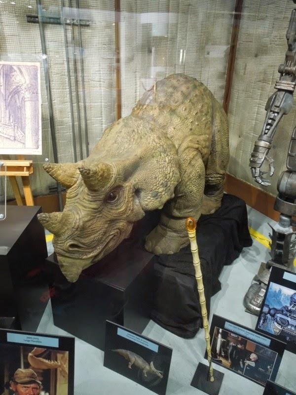 Jurassic Park animatronic triceratops cane prop