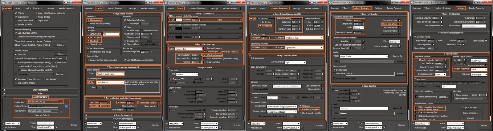 Design of drafter settingan render vray 3ds max 2012 Vray render preset exterior download