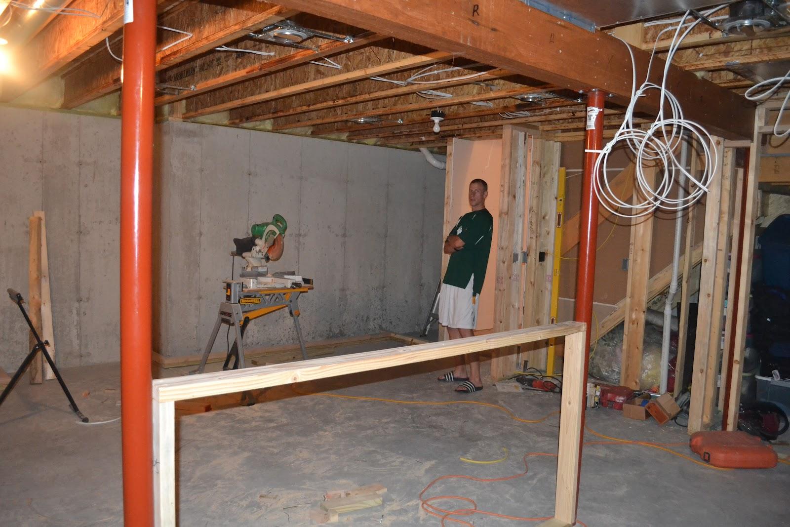 the ellestads  finishing the basement. finishing the basement