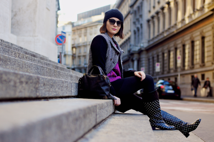 street style studded boots