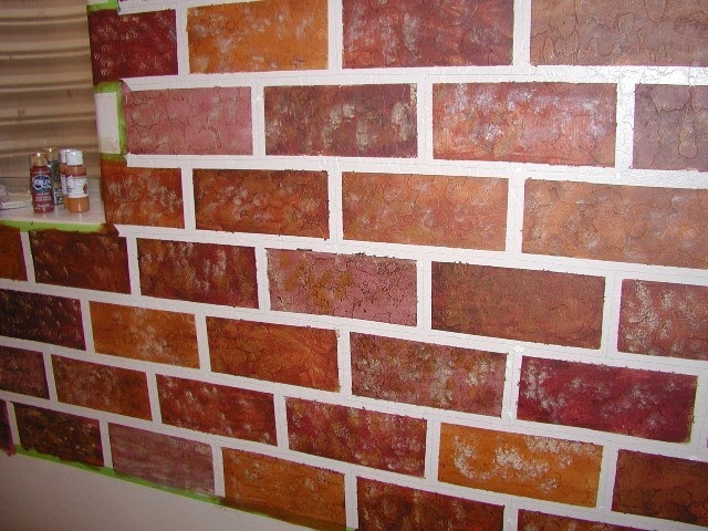 Interior brick wall painting ideas for Bricks painting design