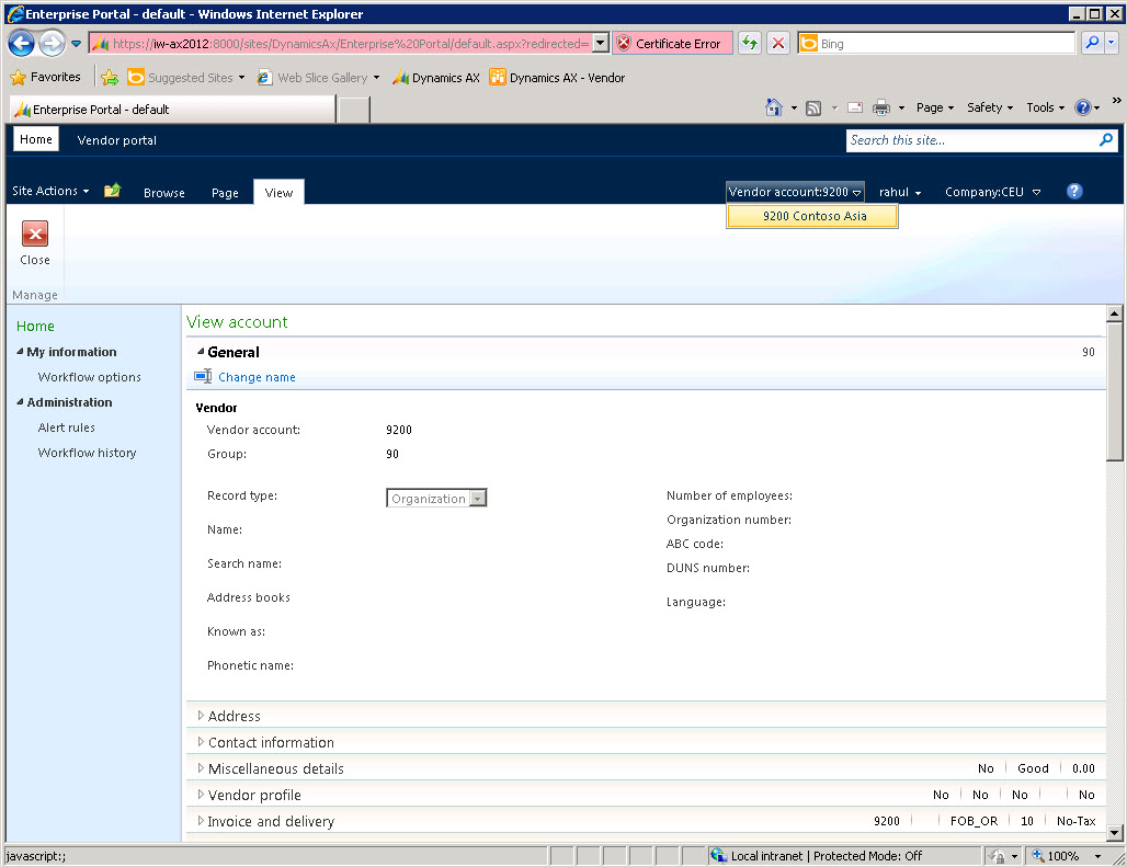 Ax pre requisites to install dynamics ax 2009 and enterprise portal - Note There Can Be Instances Where Instead Of Having Vendor Credential Database Organization Can Decide To Go With Having A Separate Active Directory For