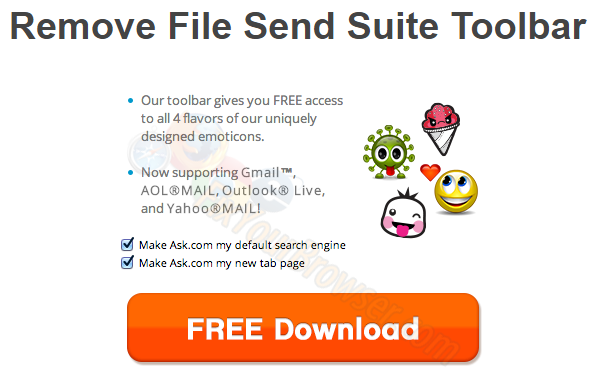 Come rimuovere File Send Suite Toolbar