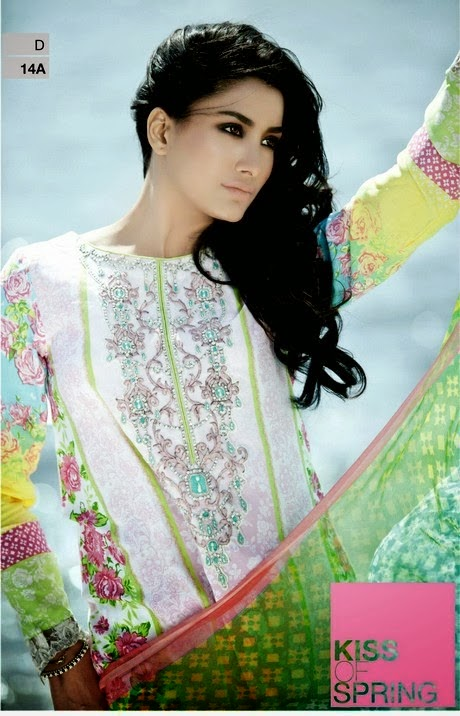 Latest designer lawn collection 2014