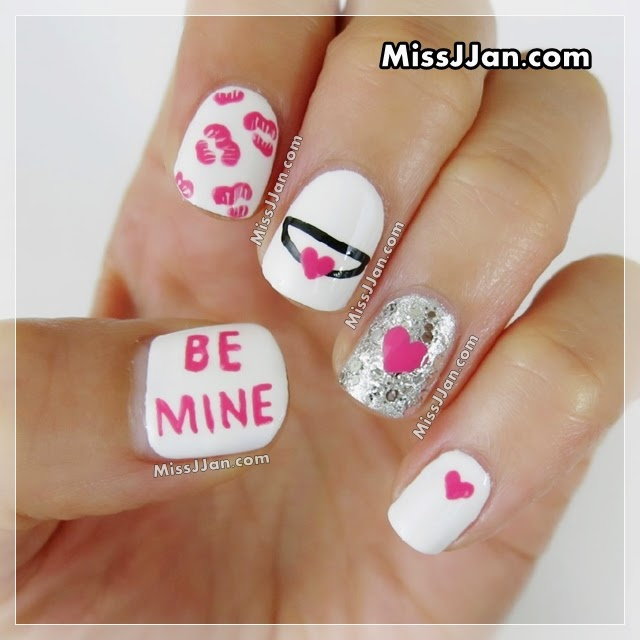 Missjjans Beauty Blog Easy Valentines Day Nail Art 5 Cute
