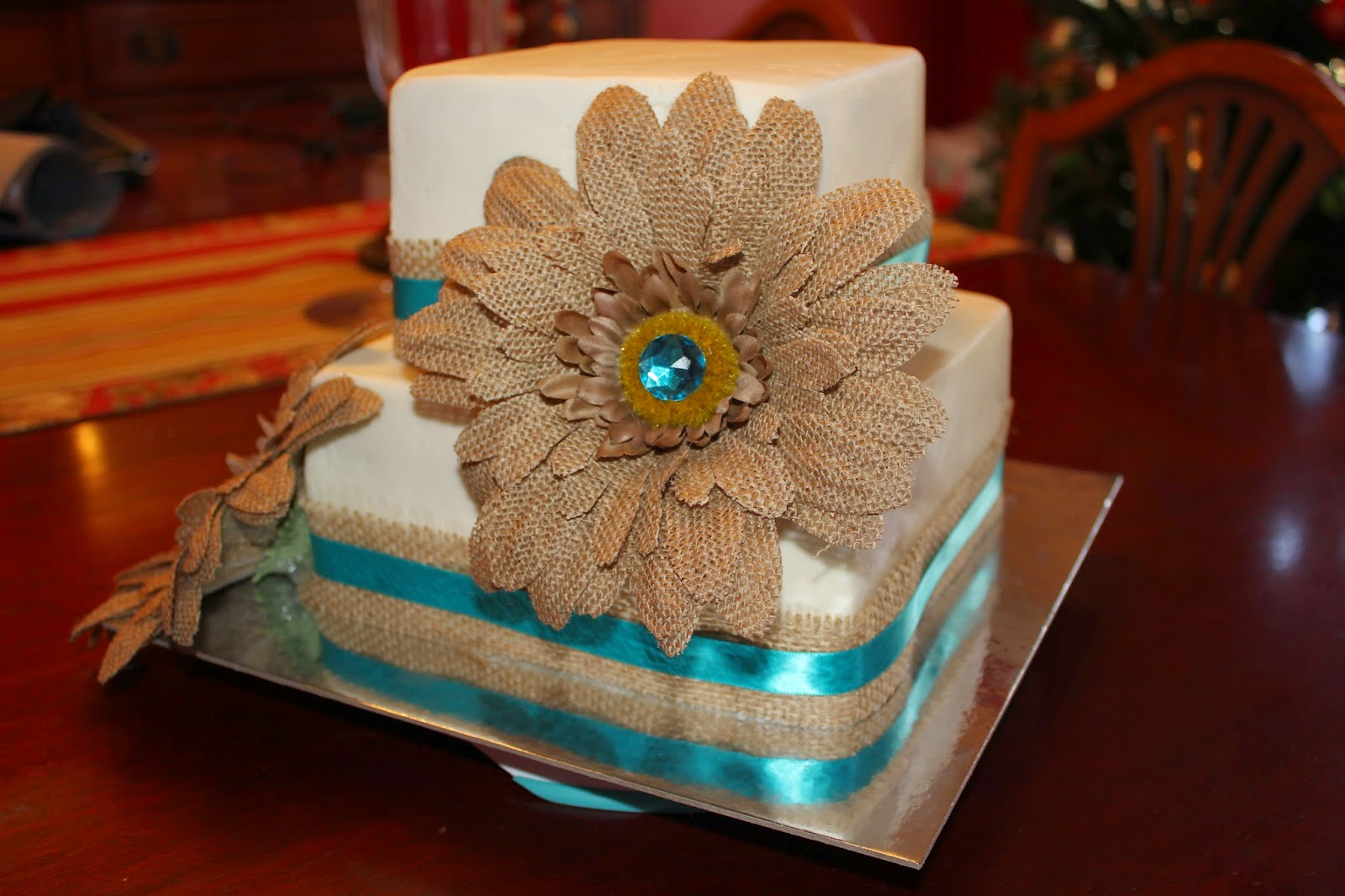 Make Her Friend A Small Wedding Cake For Their In Oklahoma She Wanted It To Be Square And Gave Me The Flowers This Was What I Came Up With