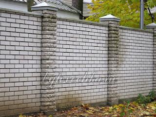 Кирпичный забор. Фото 13