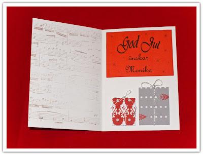 Julkort prototyp med notstämpel, variant 1