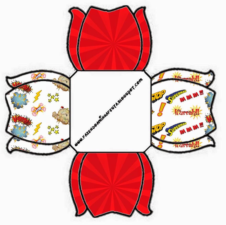 Caja abierta para caramelos o pastelitos.