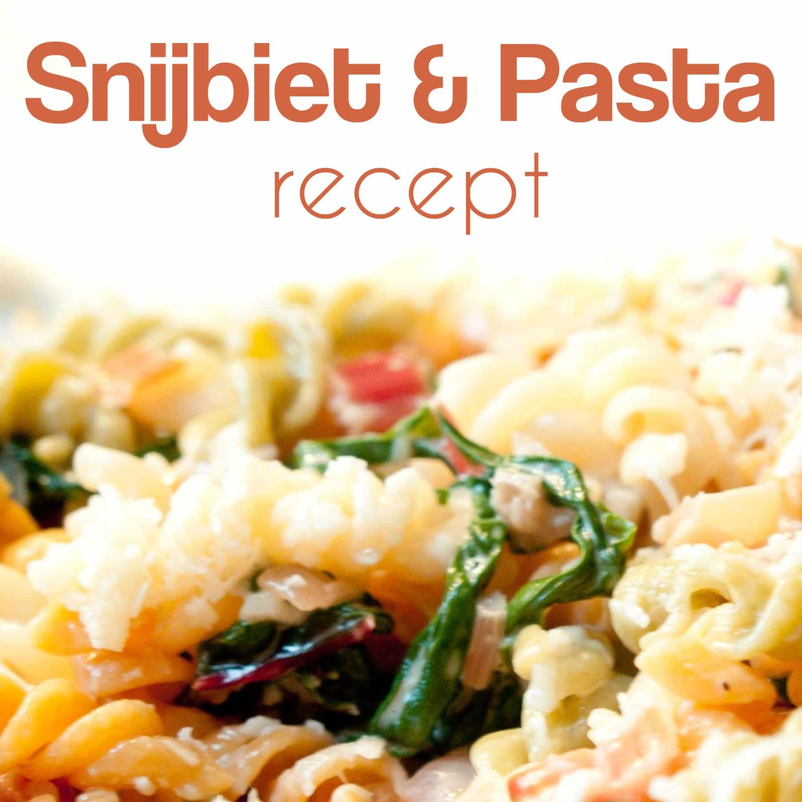 recept snijbiet pasta
