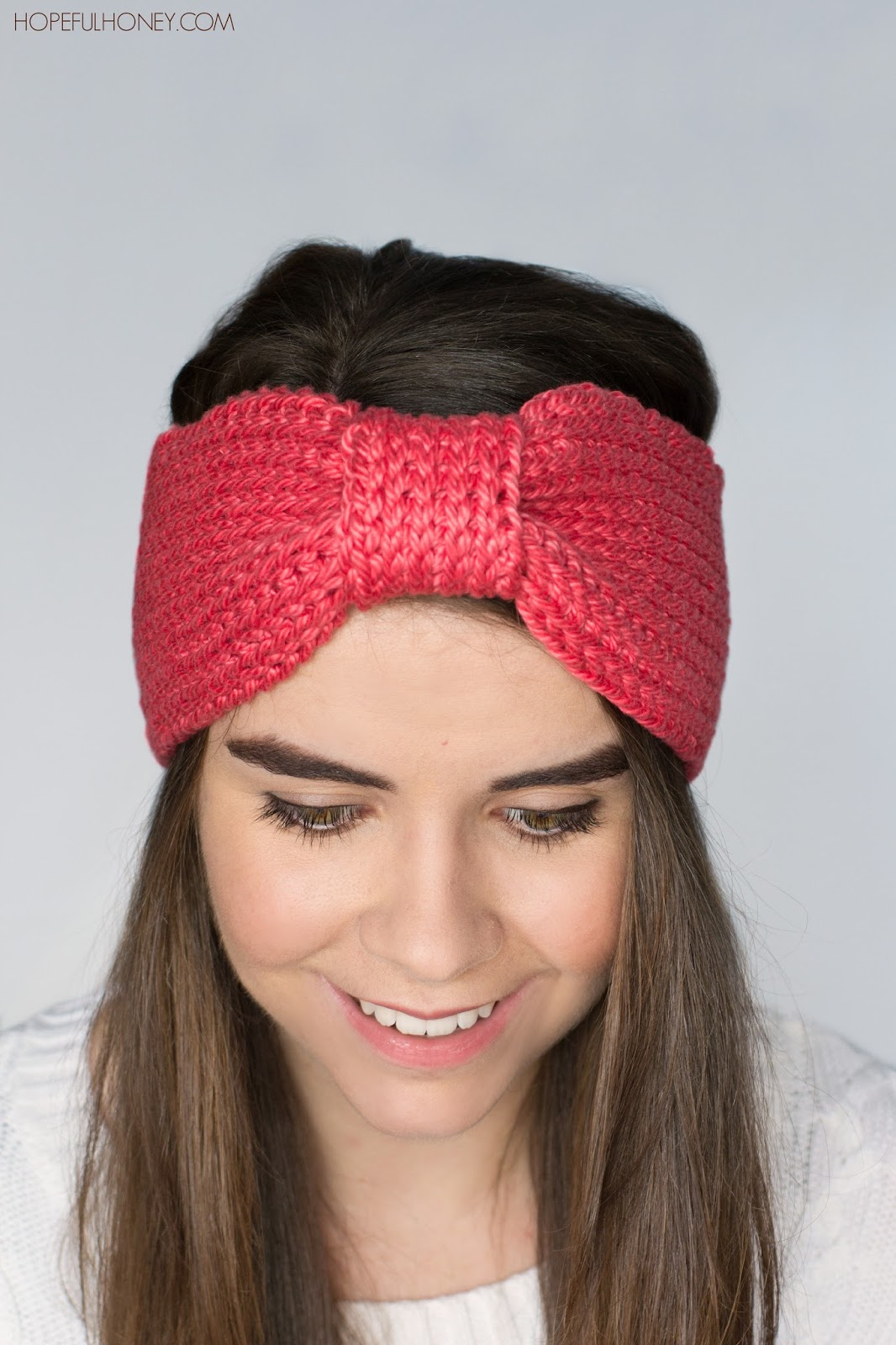 Free Adjustable Crochet Headband Pattern : Hopeful Honey Craft, Crochet, Create: Coral Candy ...