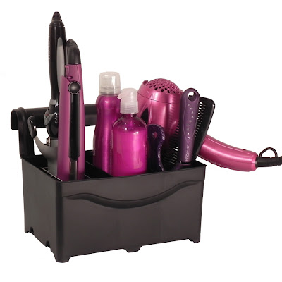 caddy for hair care appliances - dryer, curling iron, etc.