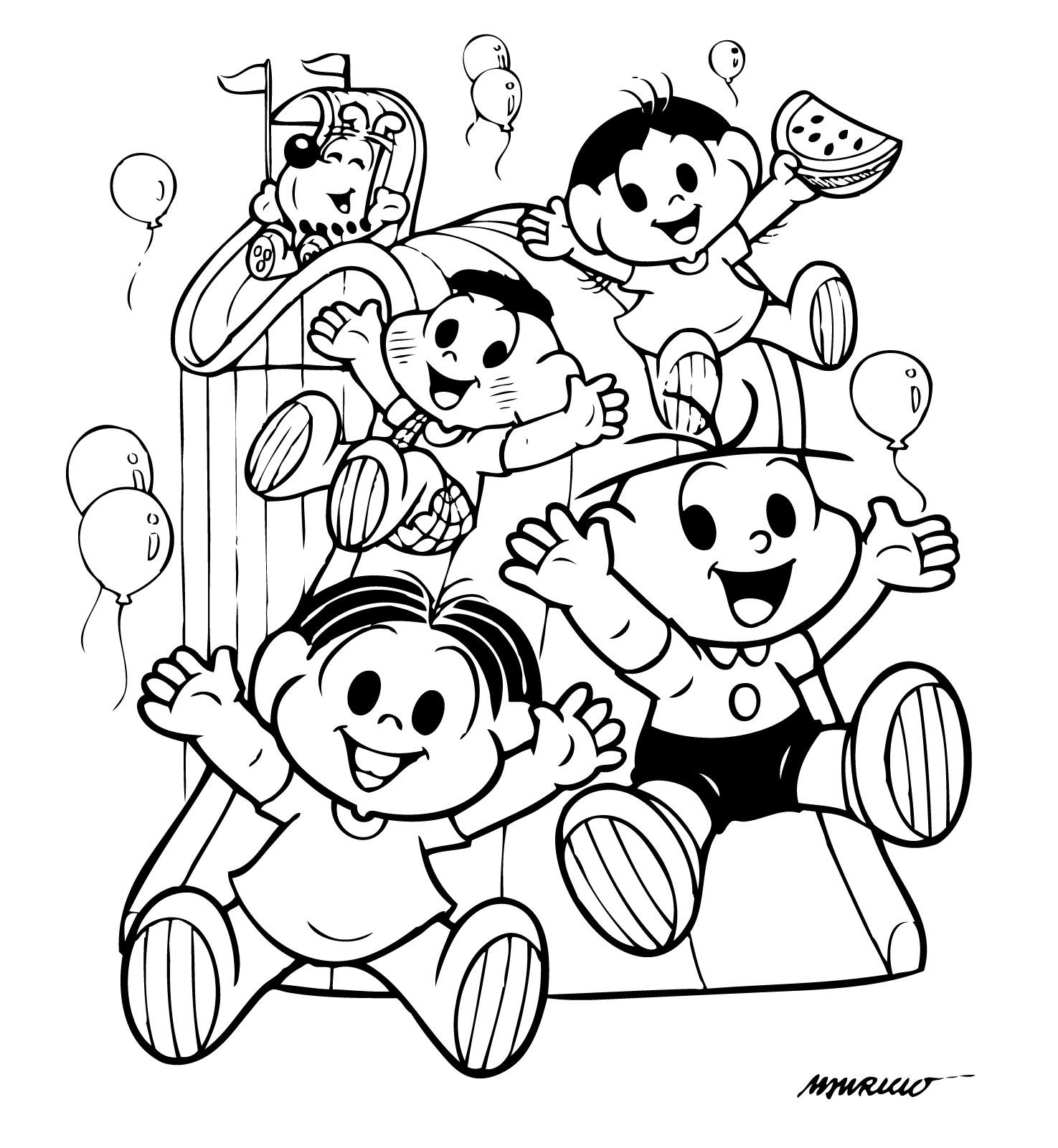 Desenho Para Colorir Da Turma Da Monica Para Imprimir Gratuitamente