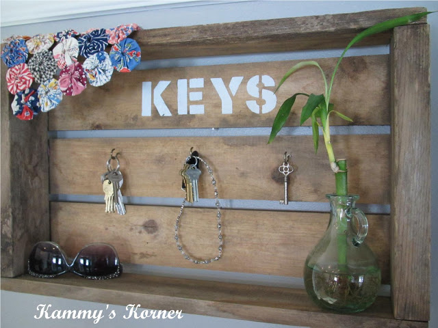 Key holding old crate by Kammy's Korner, featured on I Love That Junk. What a cool idea!