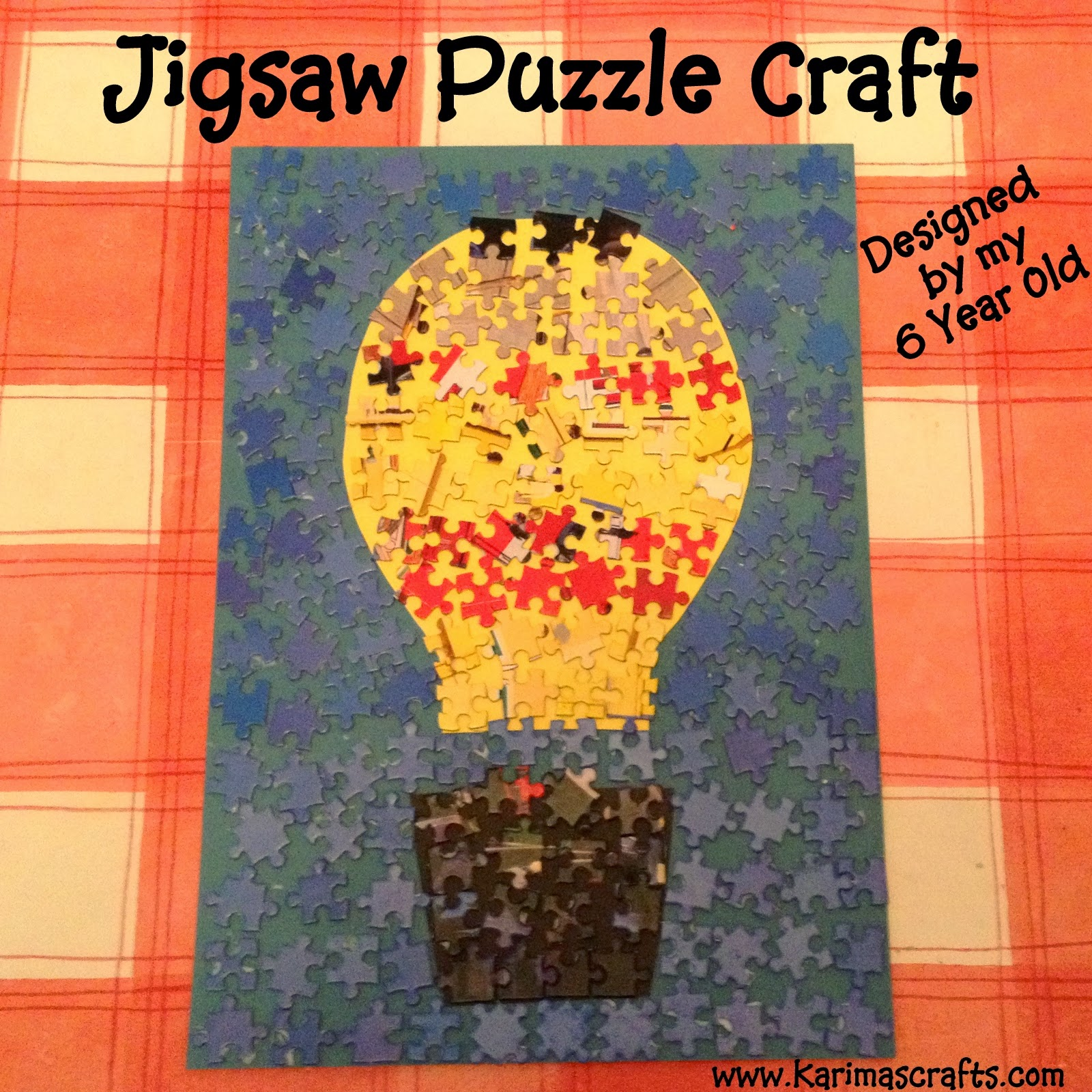 jigsaw puzzle craft idea picture